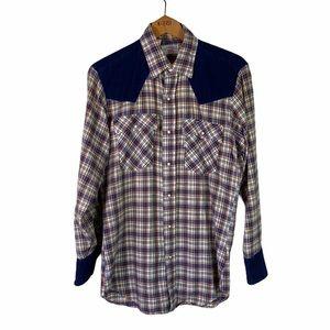 RARE Vintage Levi's Western Pearl Snap Plaid Shirt